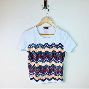 Missoni Zip Zag White T-Shirt